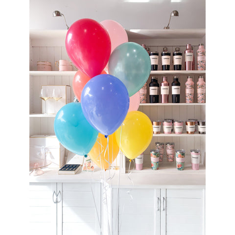 Bouquet of 9 Balloons, Inflated-Palm & Pine Party Co.