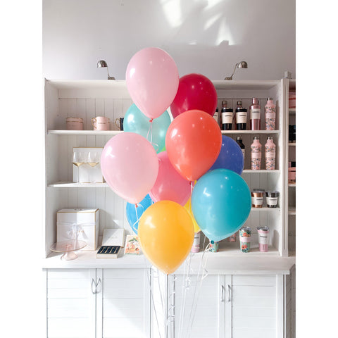 Bouquet of 15 Balloons, Inflated-Palm & Pine