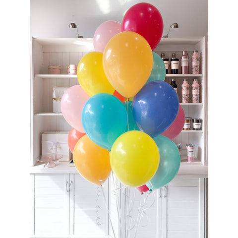 Bouquet of 18 Balloons, Inflated-Palm & Pine