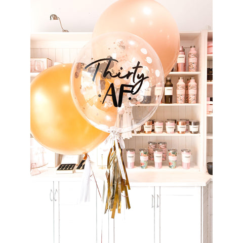 Personalised Confetti Balloon Jumbo Bouquet, Inflated-Palm & Pine Party Co.