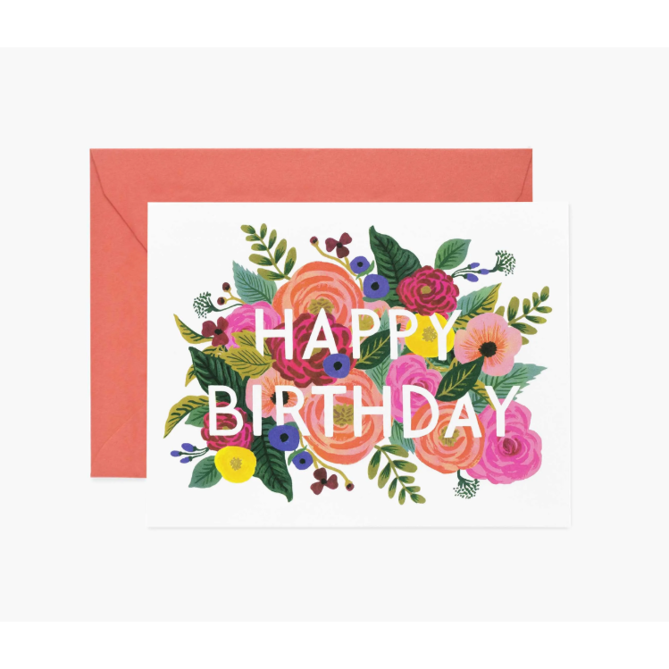 Juliet Rose Birthday Card-Palm & Pine Party Co.