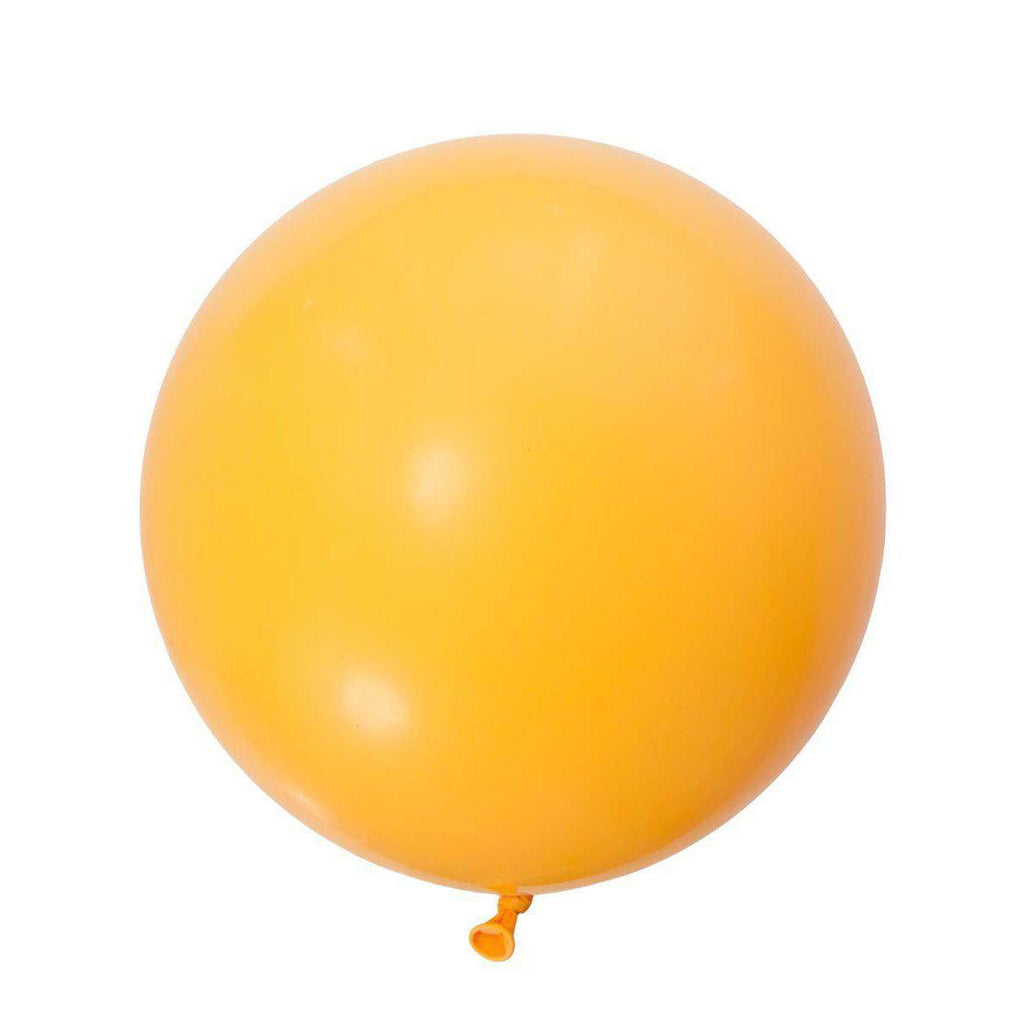 Jumbo Round Goldenrod Balloon, Inflated-Palm & Pine