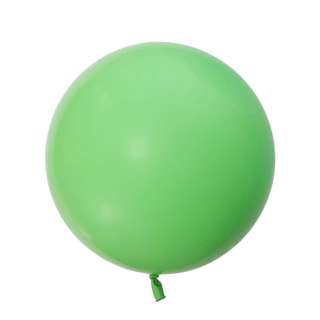 Jumbo Round Lime Green Balloon, Inflated-Palm & Pine
