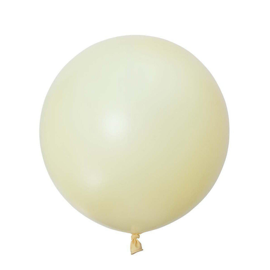 Jumbo Round Pearl Ivory Balloon, Inflated-Palm & Pine