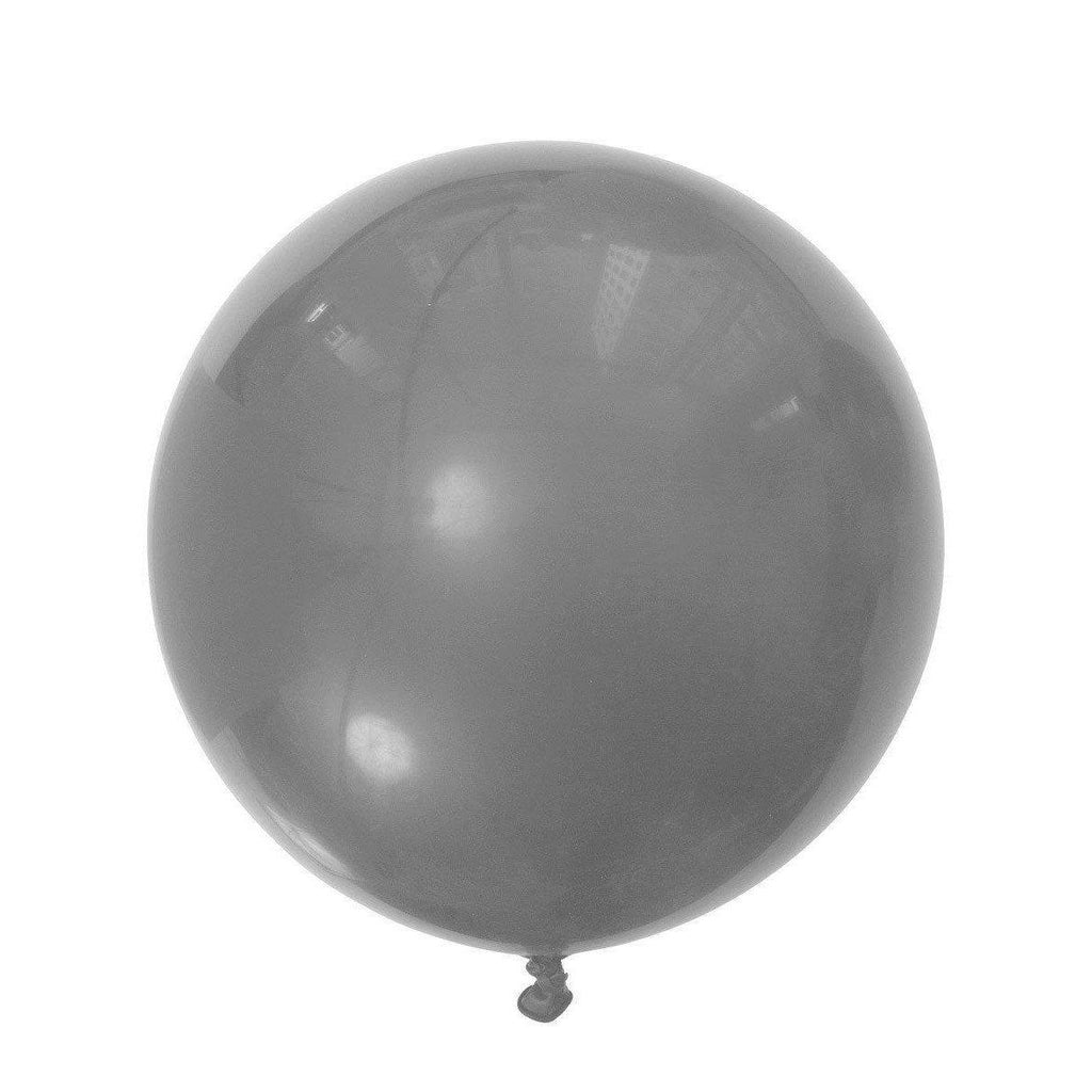 Jumbo Round Silver Balloon, Inflated-Palm & Pine