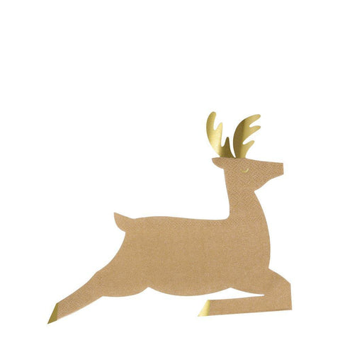 Leaping Reindeer Napkins-Palm & Pine