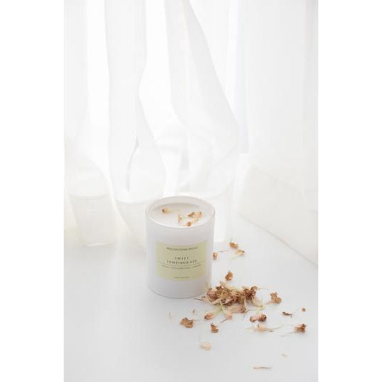 Sweet Lemongrass Large Candle-Palm & Pine