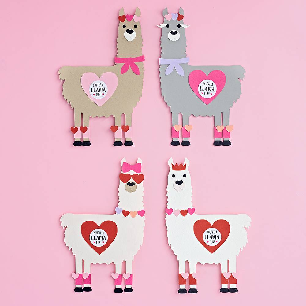 Loveable Llama Valentine Card Kit-Palm & Pine Party Co.