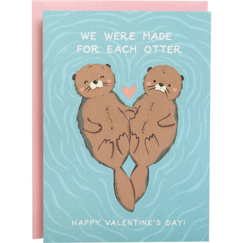 Made for Each Otter Card-Palm & Pine