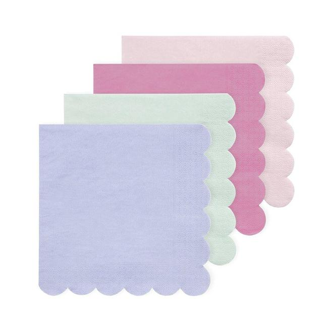Multicolour Simply Eco Napkins-Palm & Pine