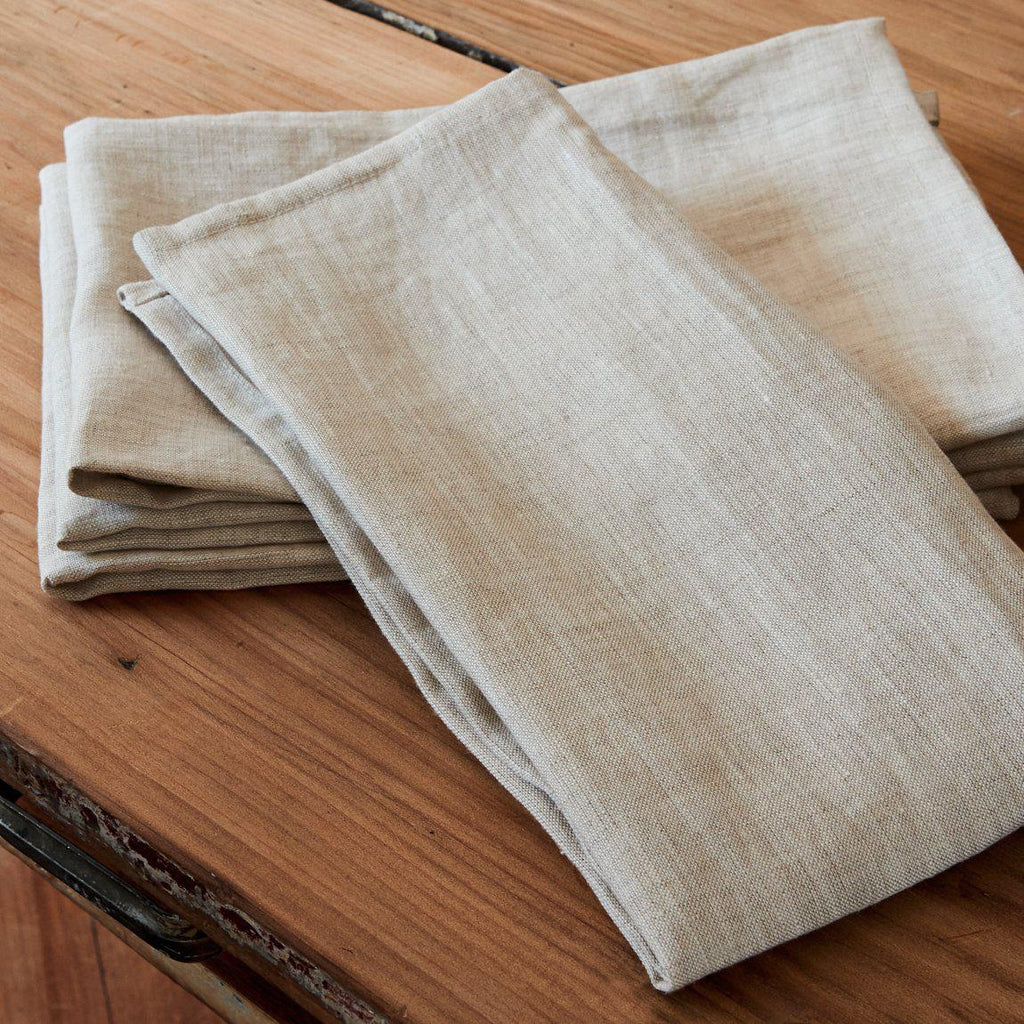 Linen Napkin Set - Natural-Palm & Pine