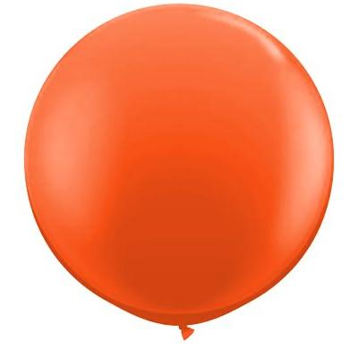 Jumbo Round Orange Balloon, Inflated-Palm & Pine