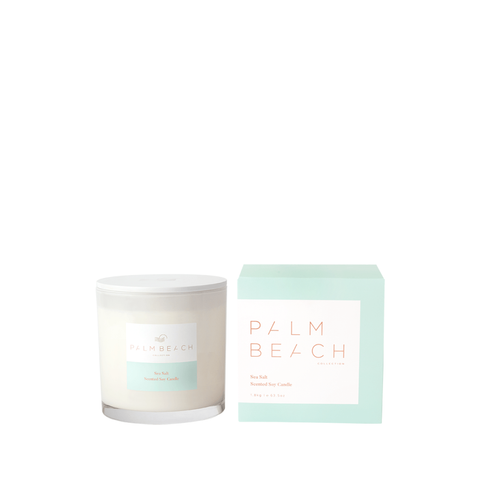 Sea Salt Candle - Deluxe-Palm & Pine