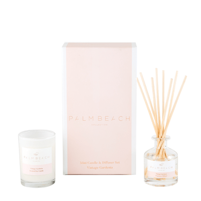 Mini Candle & Diffuser Pack - Vintage Gardenia-Palm & Pine Party Co.