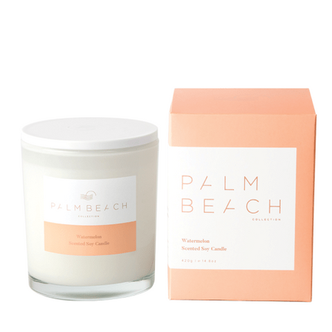 Watermelon Candle-Palm & Pine