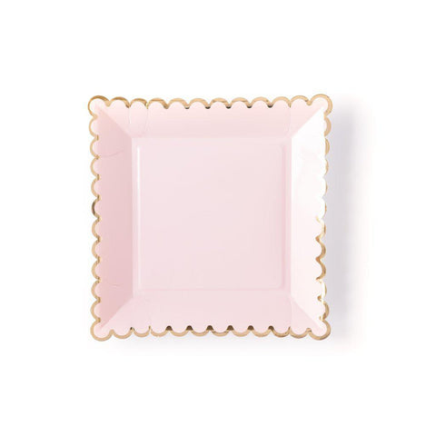 Blush Scallop Plate-Palm & Pine Party Co.