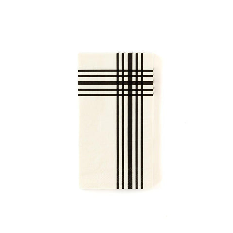 Cream Plaid Dinner Napkins-Palm & Pine Party Co.