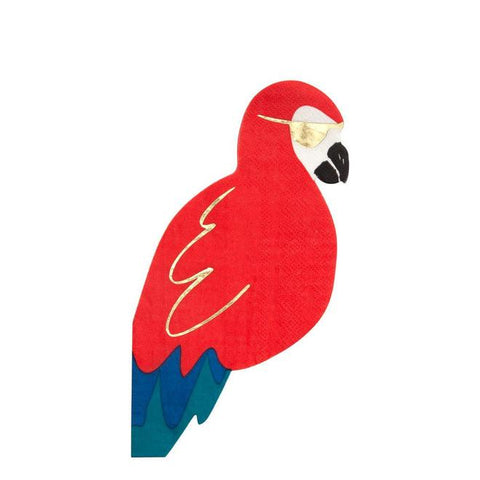 Red Parrot Napkins-Palm & Pine