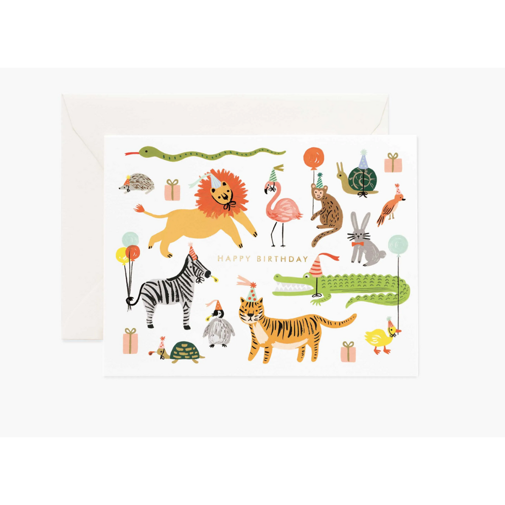 Party Animals Card-Palm & Pine