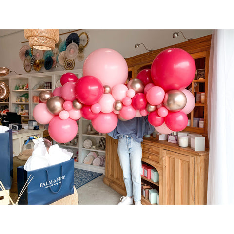 Strawberry Margarita Balloon Garland-Palm & Pine
