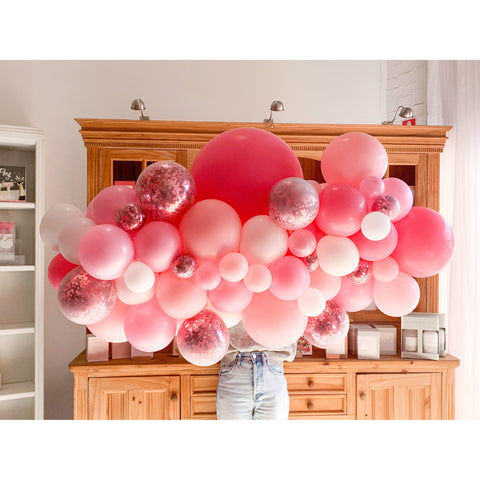 Pink Flaminco Balloon Garland-Palm & Pine