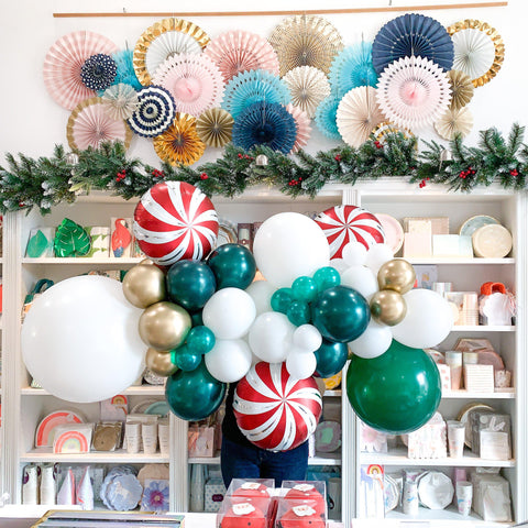 Mistletoe Balloon Garland-Palm & Pine