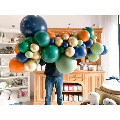 Urban Jungle Balloon Garland-Palm & Pine