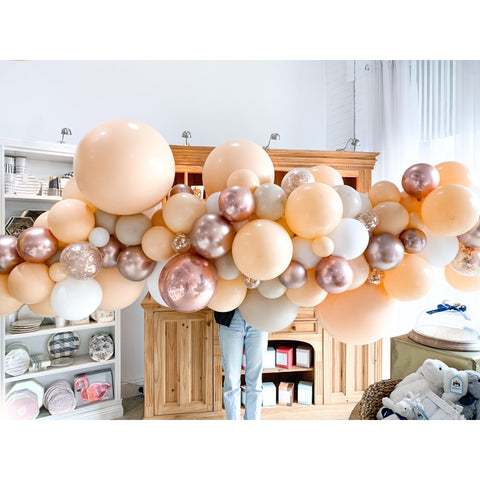 Machu Peach-u Balloon Garland-Palm & Pine
