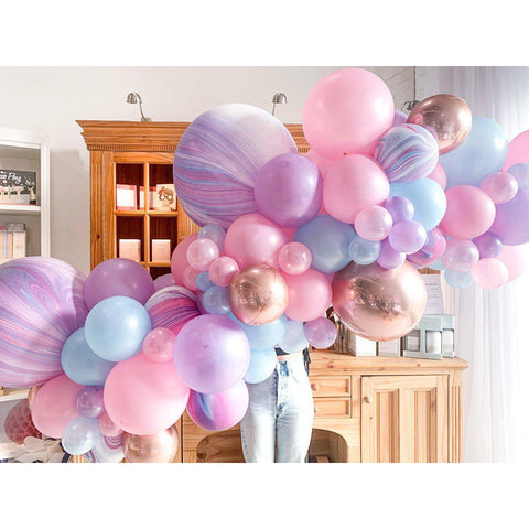 Unicorn Wishes Balloon Garland-Palm & Pine