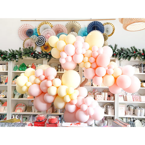 Creamcicle Balloon Garland-Palm & Pine
