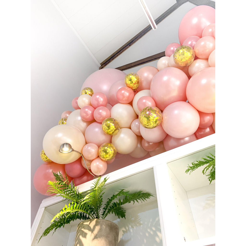 Freedom of Peach Balloon Garland-Palm & Pine