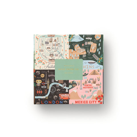 Rifle Paper Maps Jigsaw Puzzle-Palm & Pine