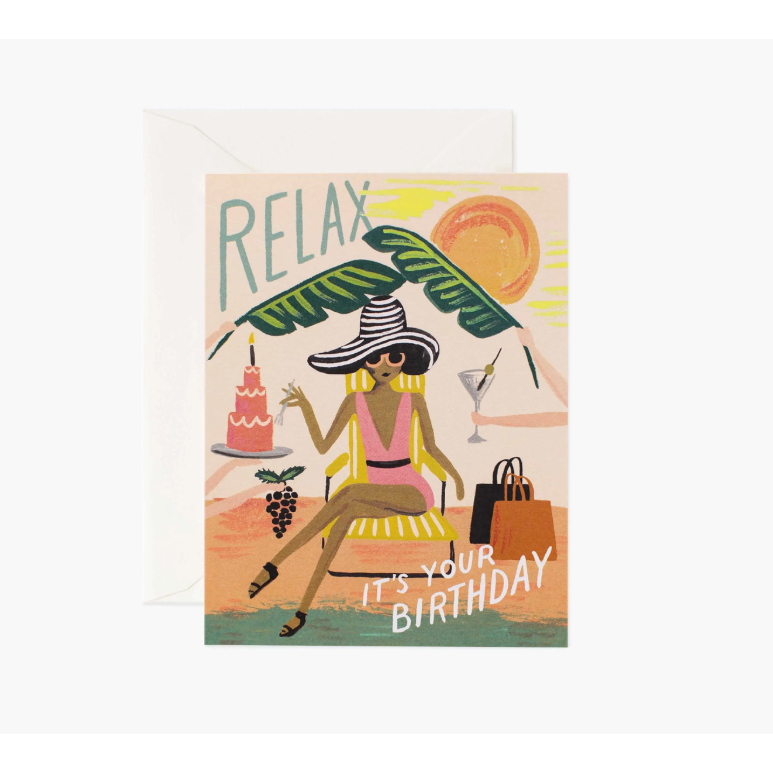 Relax Birthday Card-Palm & Pine Party Co.
