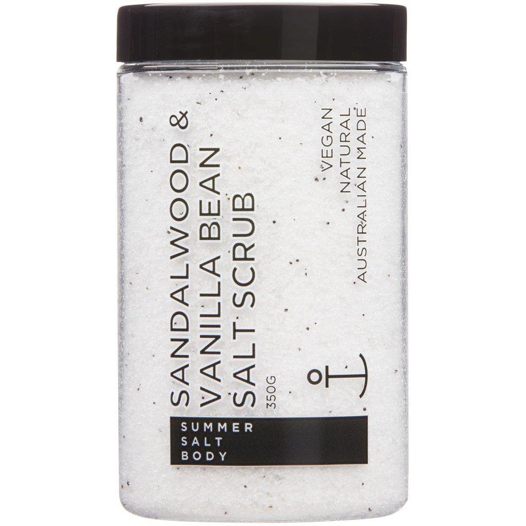 Sandalwood & Vanilla Bean Salt Scrub (350g)-Palm & Pine Party Co.