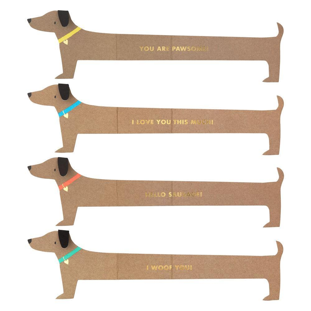 Sausage Dog Love Notes-Palm & Pine Party Co.