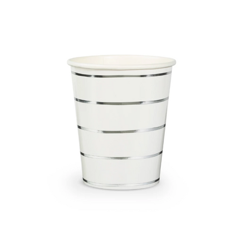 Silver Stripe Cup-Palm & Pine Party Co.