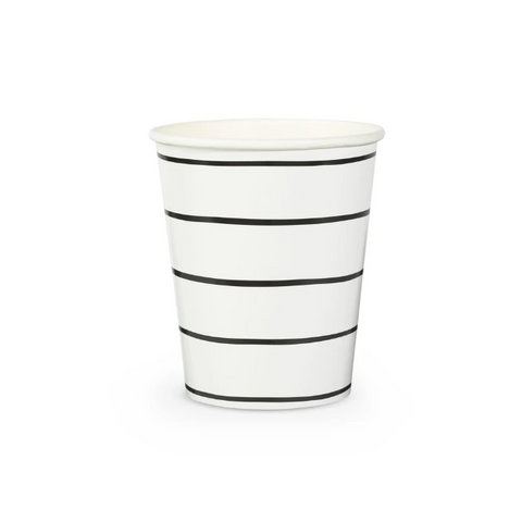 Black Stripe Cup-Palm & Pine Party Co.