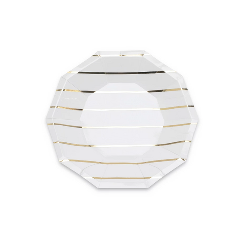 Gold Stripe Plate (small)