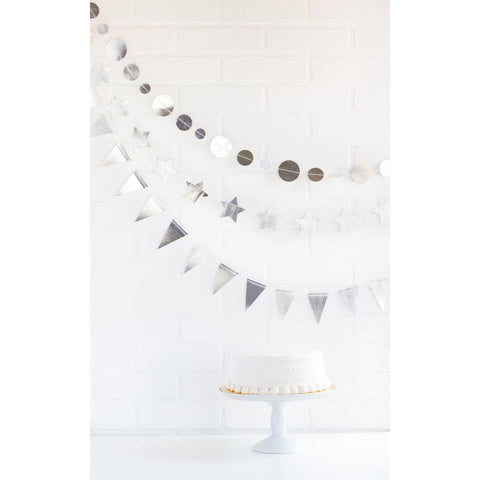 Silver Mini Banner Set-Palm & Pine Party Co.