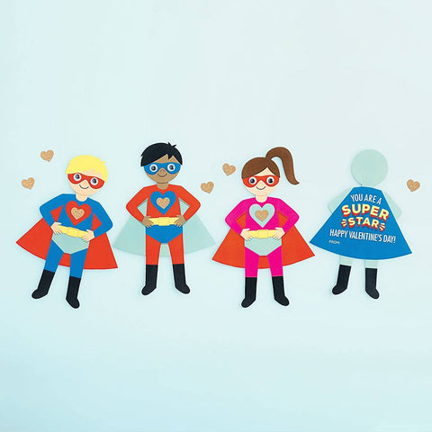 Superhero Valentine Card Kit-Palm & Pine Party Co.