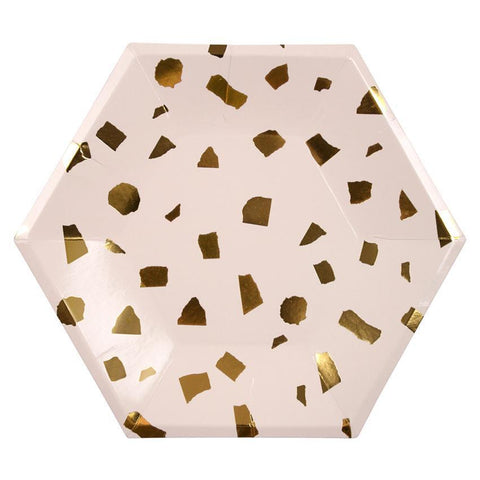 Terrazzo Blush Plates-Palm & Pine Party Co.