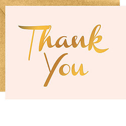 Gold Foil Thank You Card Set