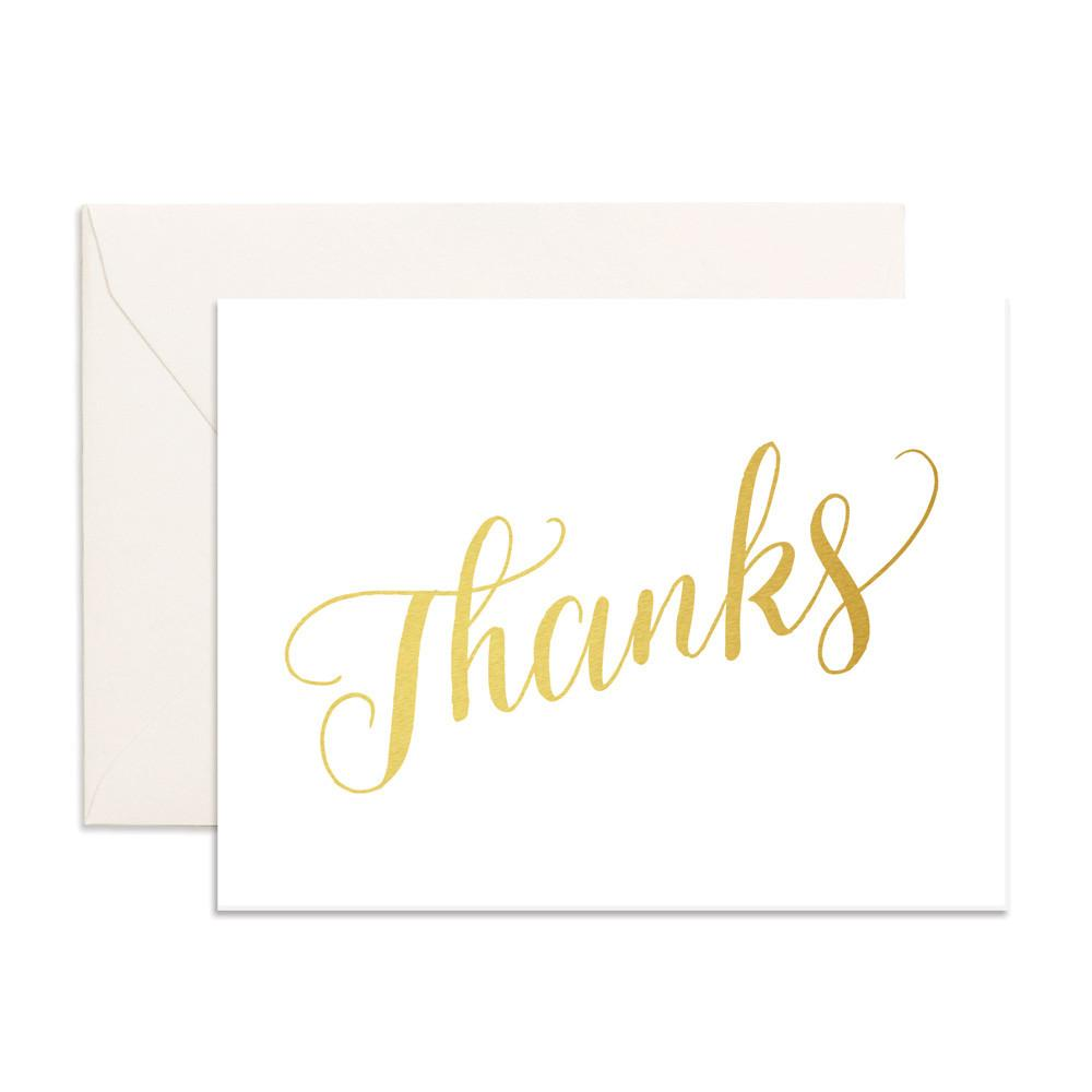 Thanks Greeting Card-Palm & Pine