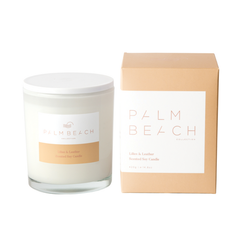 Lilies & Leather Candle-Palm & Pine Party Co.