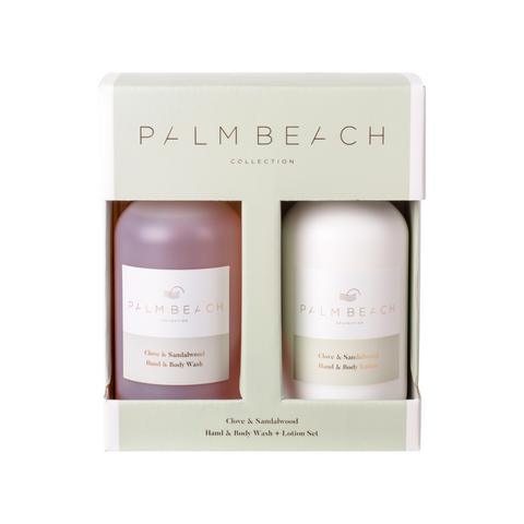 Clove & Sandalwood Wash & Lotion Gift Set-Palm & Pine