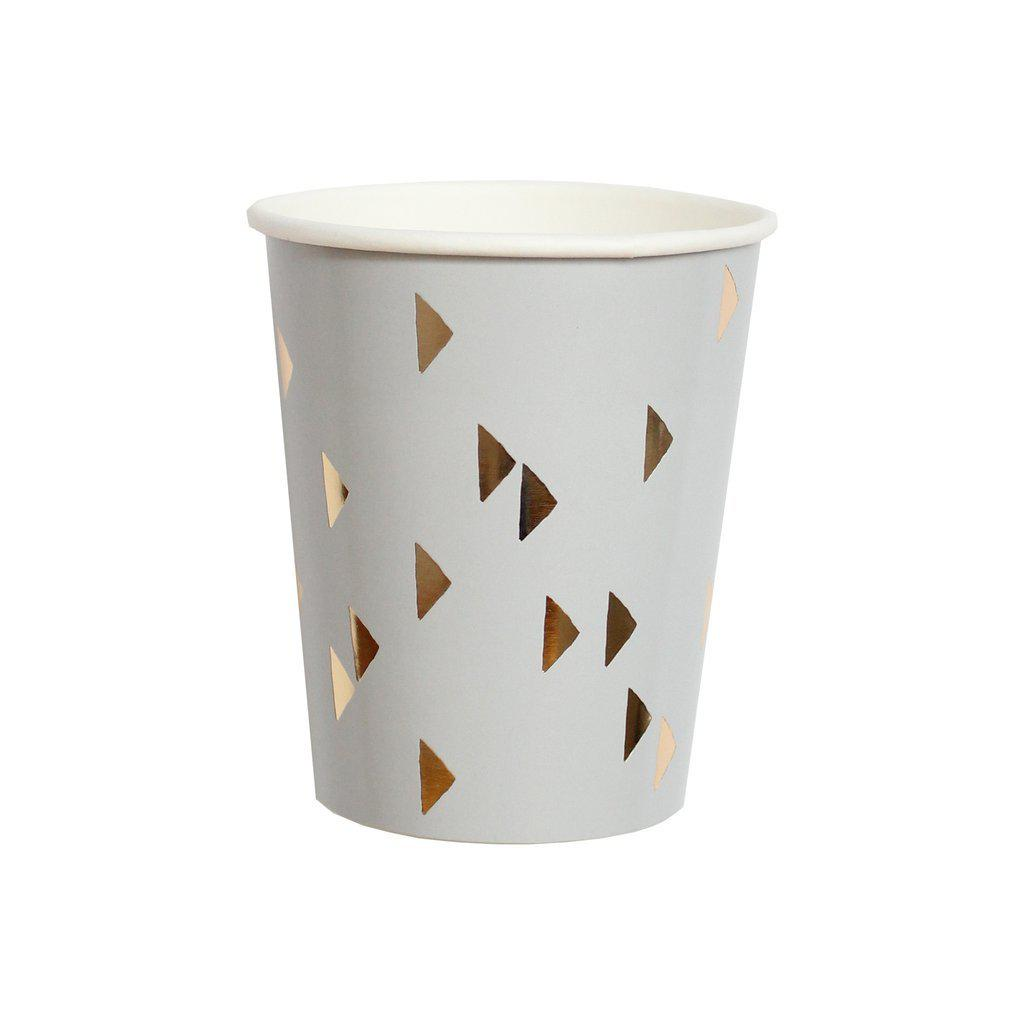 Wander Grey Triangle Cups-Palm & Pine