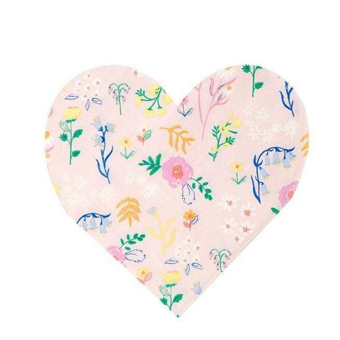 Wildflower Heart Napkin-Palm & Pine Party Co.