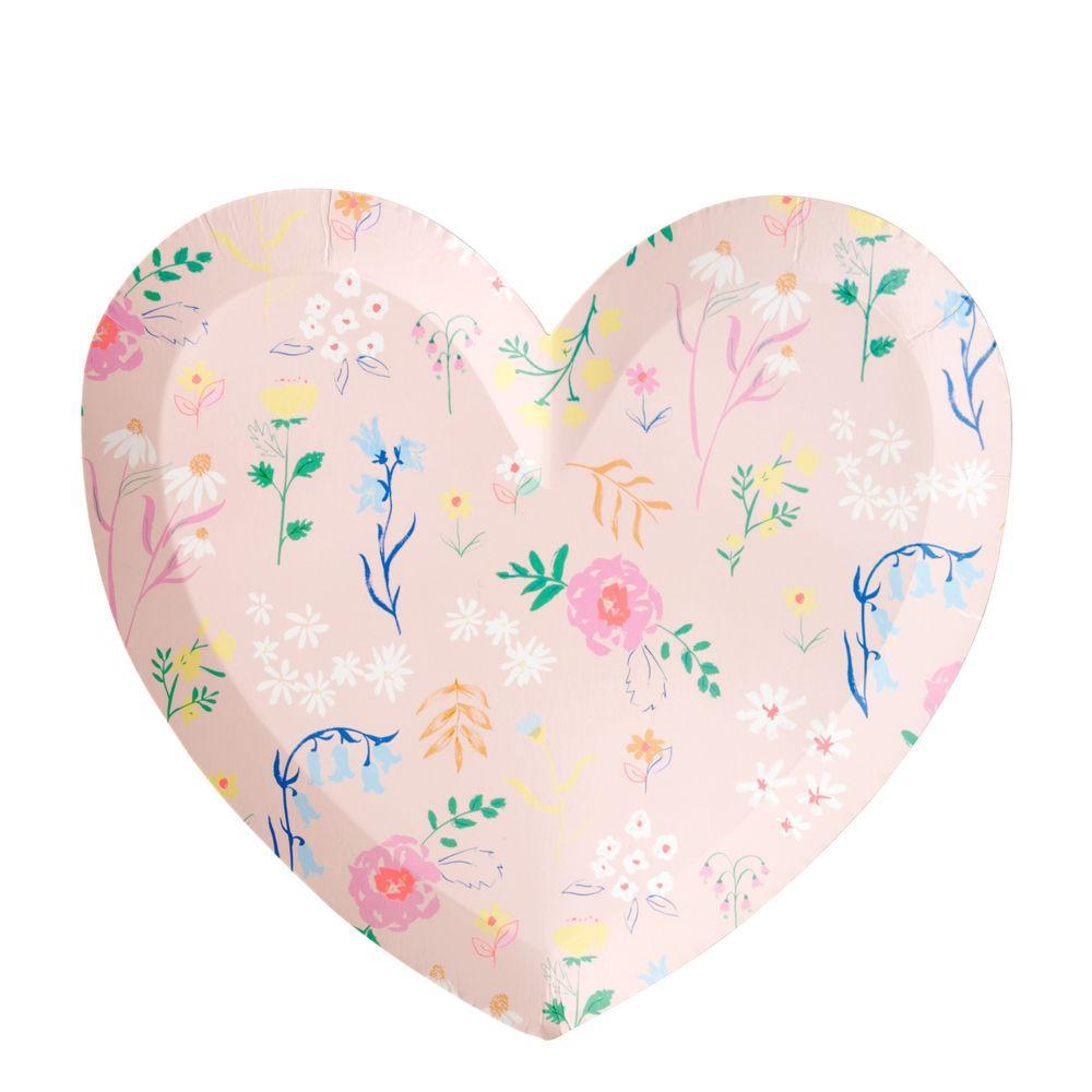 Wildflower Heart Plate (large)-Palm & Pine
