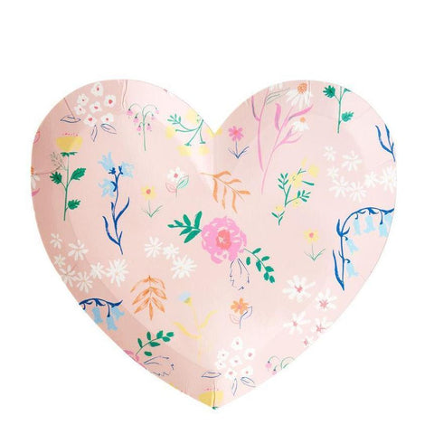 Wildflower Heart Plate (small)-Palm & Pine Party Co.