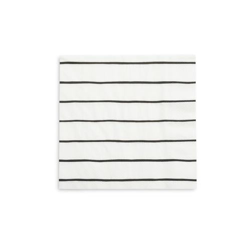 Black Stripe Napkin (large)-Palm & Pine